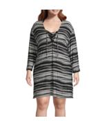 Porto Cruz Striped Dress Swimsuit Cover-Up Plus Sizes 1X, 2X, 3X Msrp $4... - $24.99