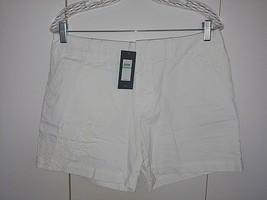 TOMMY HILFIGER LADIES WHITE 100% COTTON SHORTS-8-$59-CROCHET LACE DECO-5... - $13.99