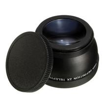 58mm 2x Magnification Telephoto Lens for Canon Eos Nikon Pentax DSLR Camera - $28.38