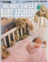 Beary Sweet Baby Blankets Crocheted Afghans 6 Designs  - $9.50