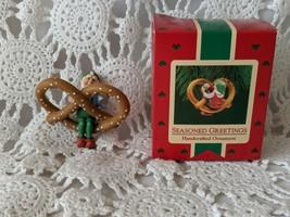 Hallmark Seasoned Greetings Handcrafted Pretzel with Gnome Ornament - $9.69