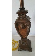 Bronze Look Resin Table Lamp Ornate Three way Bulb - $76.05