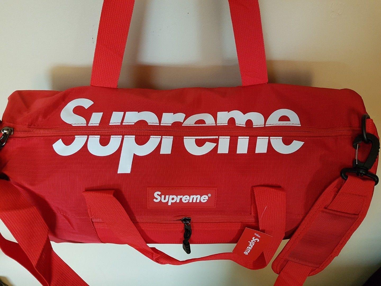 8ece9e72b06e Supreme Duffle Duffel Gym Bag Pack Classic Logo Best Quality Fast US  Shipping