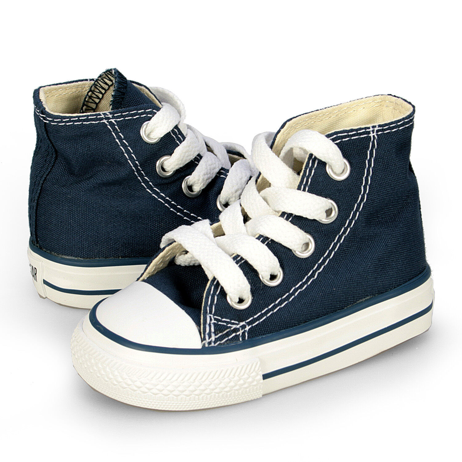 Converse All Star Chuck HI 7J233 Canvas Navy Kids Baby Toddler Shoes