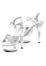 Ellie 15.2cm Glitter Glanz Sexy Absatz Kostüm Plateau-Pumps Sandalen Schuhe - $57.45