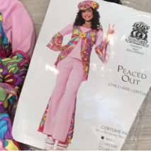 60s PEACE OUT COSTUME SET Girls S 4-6 Hippie Pink Outfit Sixties Theme D... - $33.66