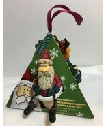 Wine Stoppers Dangling Toppers 3 piece Santa Reindeer Snowman Holiday Ch... - $16.99