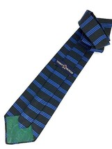 New TOMMY HILFIGER TIE Black & Blue Stripes Silk Men's Neck Tie DESIGNER - $11.95