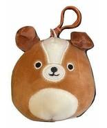 "Squishmallow Kellytoy 3.5 Inch Dog Clip On Keychain (3.5"" Bernie The St.... - $8.01"