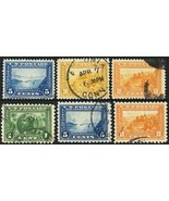 399//404, Six Different Used Stamps With VF Centering Cat $142.00 - Stua... - $75.00