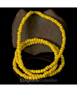 "Rare Antique Yellow Tribal Trade Glass Bead Strand 23.86"" Western-Papua ... - $38.75"