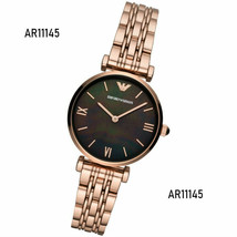 Emporio Armani Ladies Mother of Pearl Dial Rose Gold Tone Watch AR11145 - $268.57 CAD