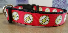 The Flash Adjustable Dog Collar / DC comic / super hero / marvel - $15.00
