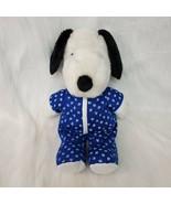 "16"" Kohls Snoopy Dog In Pjs Plush Charlie Brown Peanuts Plush Stuffed To... - $14.99"