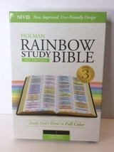 Holman Rainbow Study Bible NIV Edition Saddle Brown Leather Touch Cover ... - $55.85