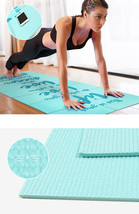 Thick 5mm Yoga Mat Exercise Fitness Pad Non Slip Extra Pilates Workout D... - $49.99
