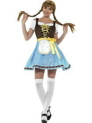 Olga Bavarian Costume, Oktoberfest Beer Festival Fancy Dress, UK Size 8-10 #DE