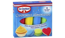 Quality Dr. Oetker Gel Food Colour Pack 4 Decorating Writing Kit Free Sh... - $10.99