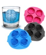 3 Pack Bundle BPA Free Creative 4 Cavity Brain Design Silicon Ice Cube T... - $18.99
