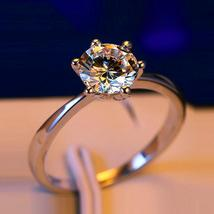 90% OFF Luxury Female Small Lab Diamond Ring Real 925 Sterling Silver Engagement - $9.98