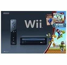 Black Wii Console with New Super Mario Brothers [Nintendo Wii] - $189.00