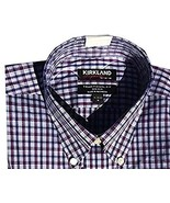 Kirkland Signature Men's Traditional Fit Button Front Long Sleeve Shirt ... - $16.83
