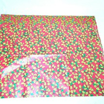 "Vintage Holly on Red Retro Wrapping Paper Sheets 20x30"" x 4 sheets Holiday - $14.98"