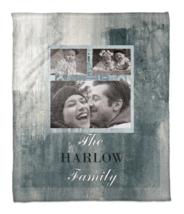 Family Tile Throw Blanket in Blue/White Personalized Custom Sofa Soft Wa... - $83.64
