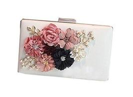 Handmade Beads and Flower White Bag Banquet Handbag and Fashion Shoulder Bags