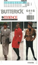 Butterick 6416 Misses' Coat Jacket & Skirt Essence Collection Pattern Si... - $14.47