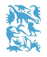 LiteMark Ice Blue Assorted Dinosaur Decals - Pack of 42 - $19.95