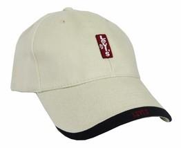 NEW NWT LEVI'S RED TAB MEN'S CLASSIC COTTON ADJUSTABLE BASEBALL HAT CAP KHAKI