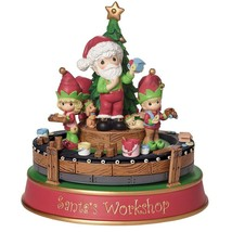 "Precious Moments, Christmas Gifts, ""Santa's Workshop Deluxe Music Box"", ... - $89.91"