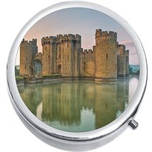 Bodiam Castle Europe Medicine Vitamin Compact Pill Box - $9.78