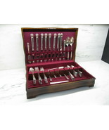 """Vintage Rogers Bros I.S. """"Eternally Yours"""" 64pc Silver Plated Flatware S... - $140.12"""