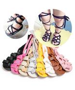 Kids Newborn Infant Baby Girl Leather High Bandage Pram Shoes 0-18M SS - $8.95