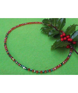 Red and green Swarovski crystal necklace - $45.00