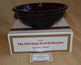 "Avon Cape Cod Serving Bowl Dish 1986 Centennial 8.75"" Ruby Red w/Box unused - $13.57"