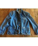 Rare BLUE JEAN JACKET GUESS by Marciano sz M 1980's Vintage Ladies DENIM - $45.32