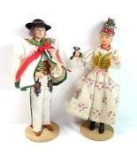 Pair of Cepelia Polish Folk Art Krakow Lalki Region Wedding Dolls from P... - $29.99