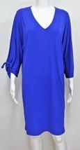 NWT $99 RALPH LAUREN Slit Open Sleeve ELECTRIC Blue Jersey Dress L - $49.95