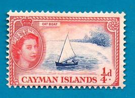 Mint Cayman Islands (1955) Queen Elizabeth II - Catboat Postage Stamp  S... - $2.99