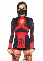 Leg Avenue Dragón Ninja Luchador Asesino Adulto Mujer Disfraz Halloween ... - $42.07
