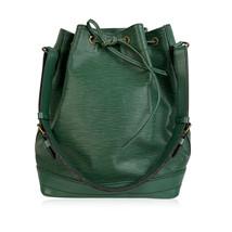 Authentic Louis Vuitton Vintage Green Epi Leather Bucket Noé Shoulder Bag - $381.15