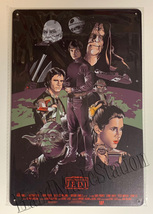 """Star Wars Return of the Jedi Poster Wall Metal Sign plate Home decor 11.75"""" x 7."""