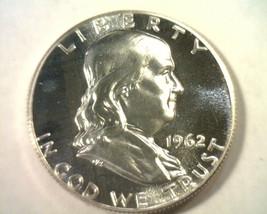 1962 FRANKLIN HALF DOLLAR GEM / SUPERB PROOF CAMEO GEM / SUPERB PR CAM N... - $55.00