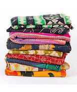 Wholesale Lot Indian Handmade Throw Blanket Kantha Quilt Vintage Boho Be... - $88.19