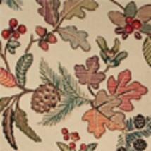 Longaberger Chestnut Side Handled Pantry Basket Liner - Autumn Path Fabric - $18.57