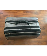 "Rolling Carry On Suit Case Gray JM New York 16""L x 10""D x 15"" H Grey Sna... - $32.71"