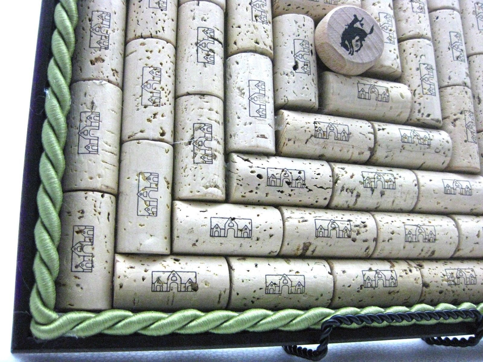 "13"" Square Wood Frame Natural Wine Cork Bulletin Message Board ""Home Ranger"""